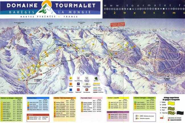 carte Domaine skiable Grand Tourmalet