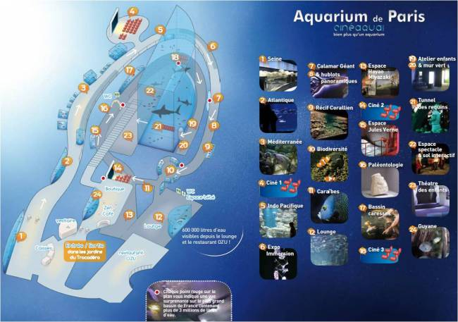 carte Aquarium de Paris